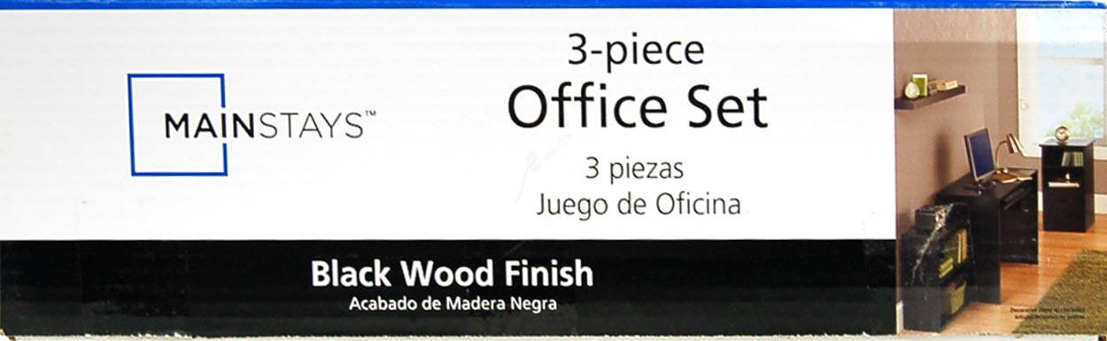 mainstays 3 piece home office bundle black. Mainstays 3 Piece Home Office Bundle Black. Black K