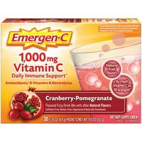 Emergen-C Drink Mix, Cranberry-Pomegranate 1000mg Packets, 30ct