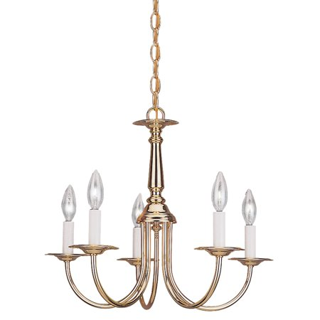 Sea Gull Lighting Traditional 3916-02 5-Light Chandelier - 18.5 diam. in. - Polished Brass