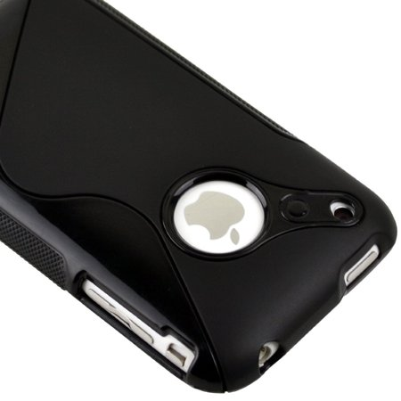 Generic Black Rubber TPU GEL Hard Case Skin Cover for Apple Iphone 3g 3gs 8gb 16gb ()