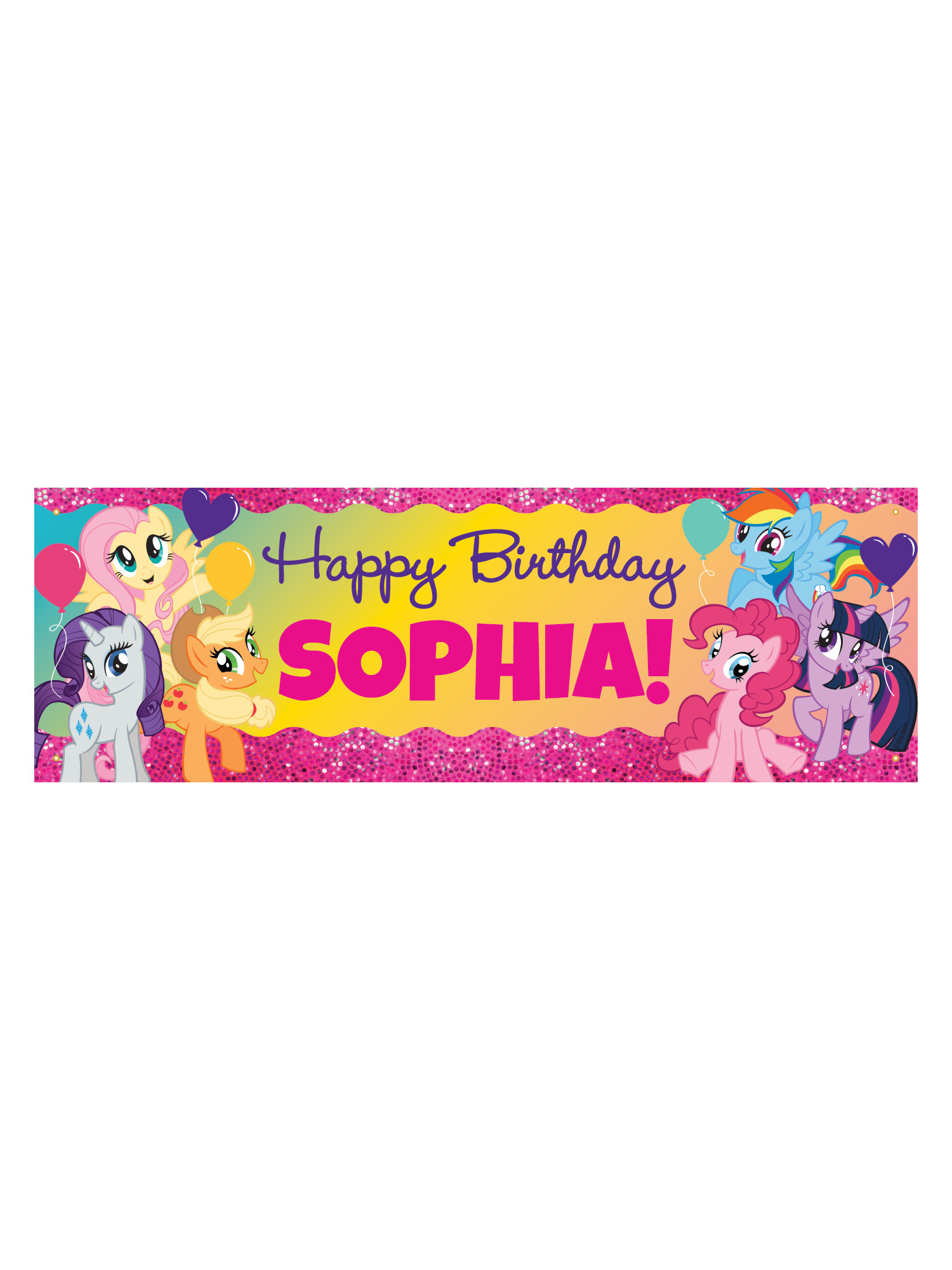 Personalised ANY NAME Horse Pony 12th Birthday Banner x 2 Party Decorations
