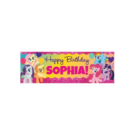 Personalized My Little Pony Sparkleriffic Birthday Banner - Birthday Banner Personalized