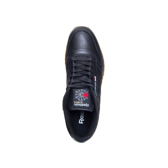 48f517df54c4f Reebok - Reebok 49798 CL Classic Leather Black Gum-Sole Running Men Sneaker  (13 D(M) US Men) - Walmart.com