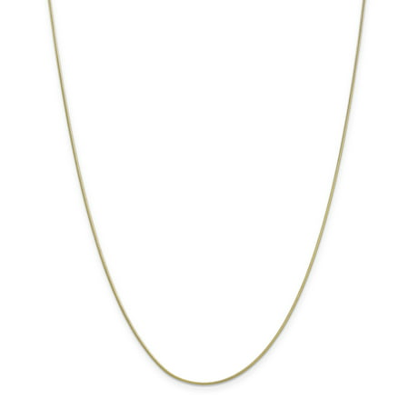 - 10K Yellow Gold .90mm Round Snake Chain 20 Inch