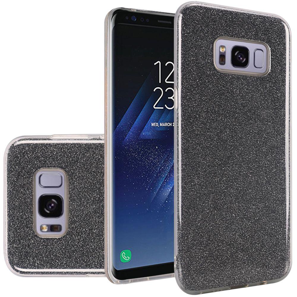 Samsung Galaxy S8 Case - Wydan Slim Hybrid TPU Glitter Shock Resistant Skin Phone Cover Smoke