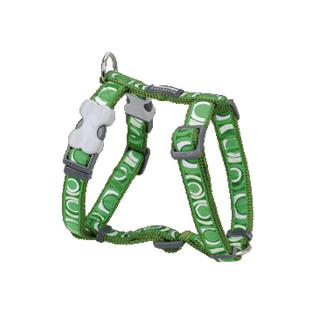 Red Dingo DH-CI-GR-LG Dog Harness Design Circadelic Green, Large