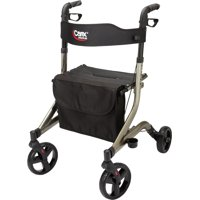 Carex Crosstour Rolling Walker Rollator, Rolling Walker with Seat, Folding, Euro Style Rollator, 4 Wheel Walker for Seniors- 300lb Capacity