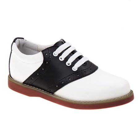 Academie CHEER-CW-V Saddle School Shoes, White & Black - Wide - Size 13.5](Saddle Shoes)