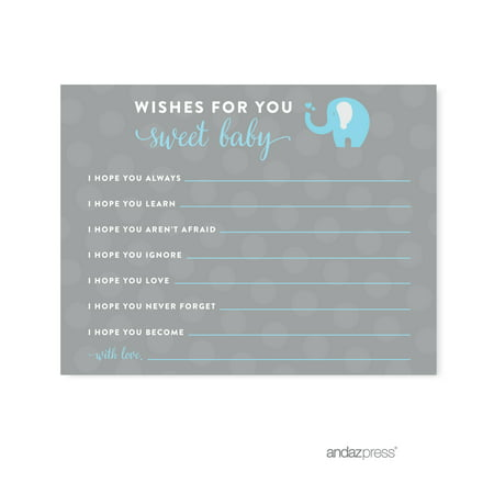 Baby Boy Elephant Baby Shower Decorations (Wishes For Baby Gray Boy Elephant Baby Shower Games ,)