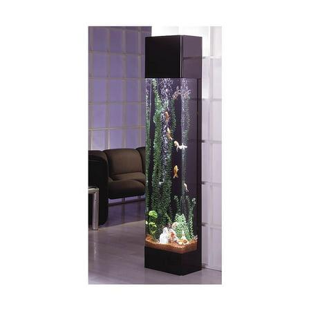Rectangular Aquarium Tower Black