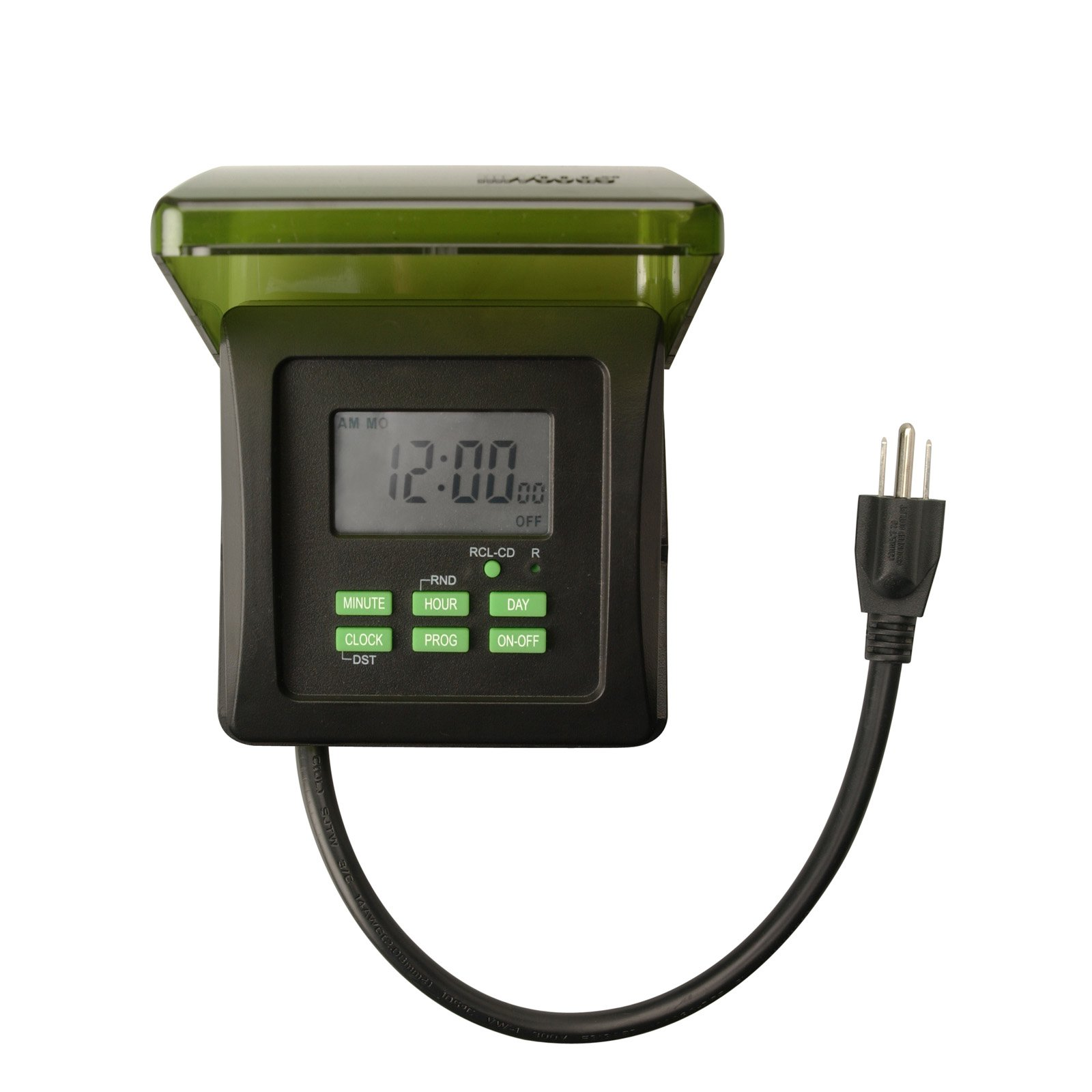 Woods 50015WD Outdoor 7-Day Heavy Duty Digital Outlet Timer