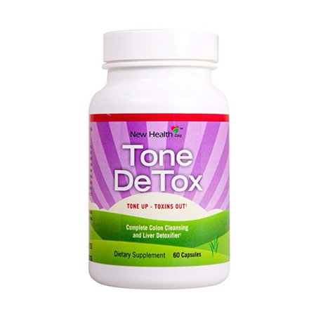 New Health Tone deTox, Fat burner, cleanse and detox, Naturally flush out toxins and Speed up weight loss 60
