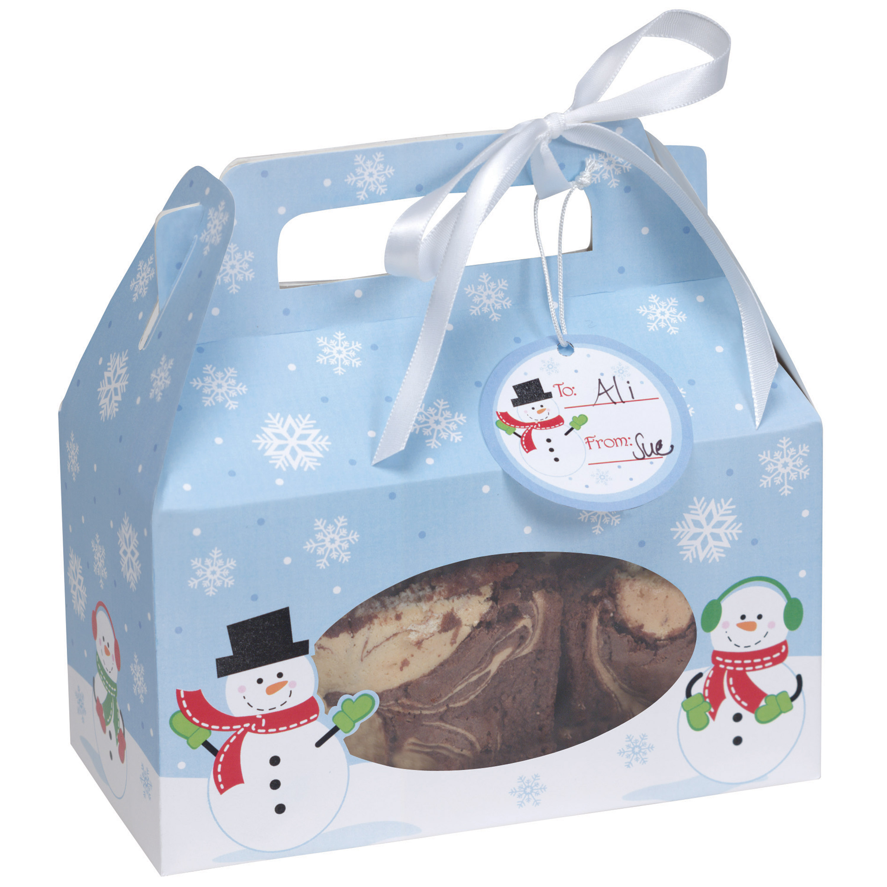 Snowman Cookie Box, 4 pack