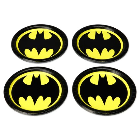 American Greetings Batman Paper Dinner Plates, 36-Count - Batman Party Plates
