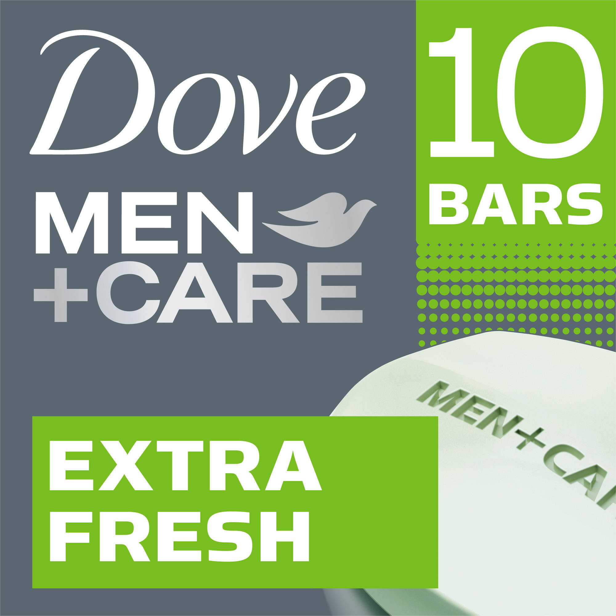 Dove Men+Care Extra Fresh Body and Face Bar, 4 oz, 10 Bar