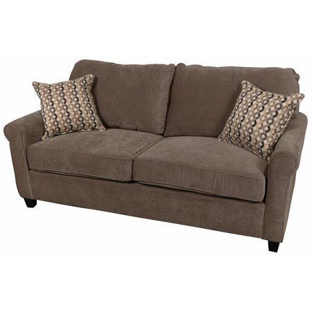 Serena Plush Microfiber Queen Sleeper Sofa - Tuape Plush Microfiber Sofa