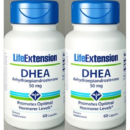 Life Extension DHEA 50 mg 60 capsules 2 bouteilles