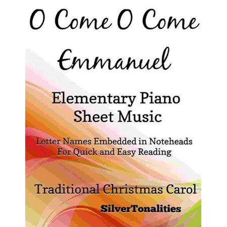 O Come O Come Emmanuel Elementary Piano Sheet Music -