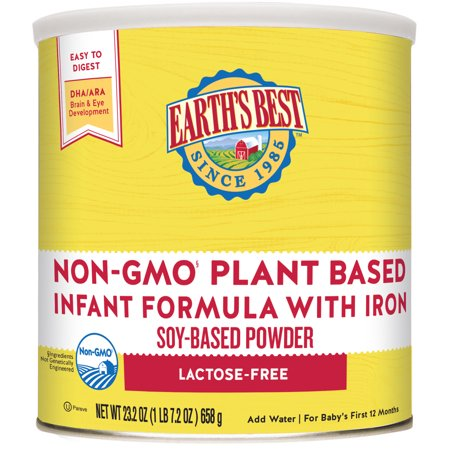 Earth's Best Non-GMO Soy Plant Based Infant Powder Formula with Iron, Omega-3 DHA & 6 ARA, 23.2 (Best Baby Formula Australia)
