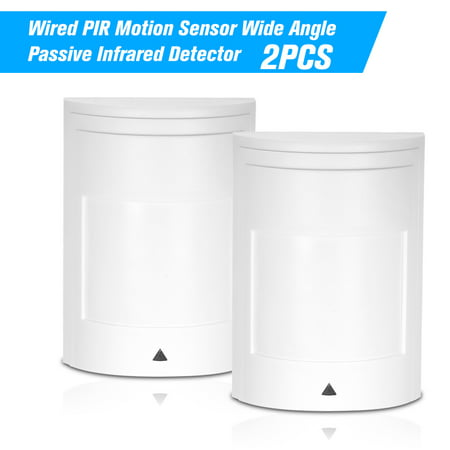 Passive Infrared Sensor - 2PCS Wired PIR Motion Sensor Wide Angle Passive Infrared Detector For Home Burglar Security Alarm System