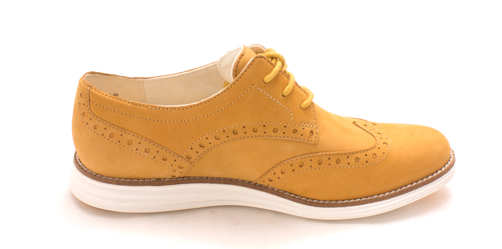 Cole Haan Womens Maiyasam Low Top Lace Up Fashion Sneakers, Wheat, Size 6.0