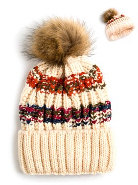 da15d98aa5d Product Image Newbee Fashion - Women Winter soft Knitted Beanie Hat Faux Fur  Pom Pom Beanie Hat with
