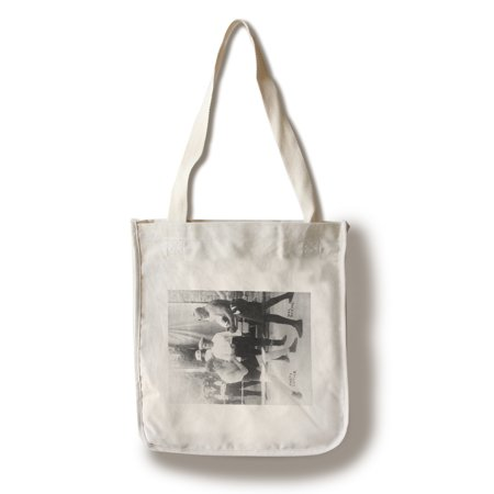 Boxers Marty Cutler and Jack Johnson - Vintage Photograph (100% Cotton Tote Bag - Reusable) ()