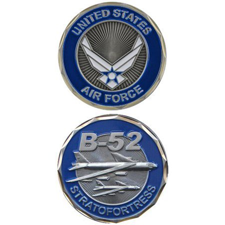 United States Military US Air Force B-52 Bomber Plain Stratofortress - Good Luck Double Sided Collectible Challenge Pewter Coin