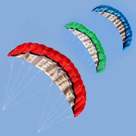 2.5m Outdoor Sport Kite Power Stunt Parachute Parafoil Dual Line Kite Durable MZ