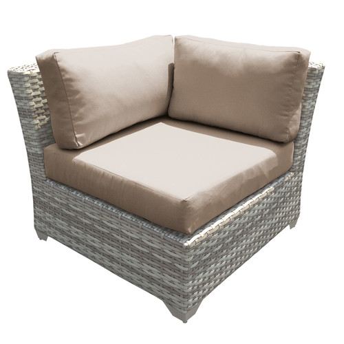 Sol 72 Outdoor Falmouth Corner Patio Chair with Cushions (Set of 2)