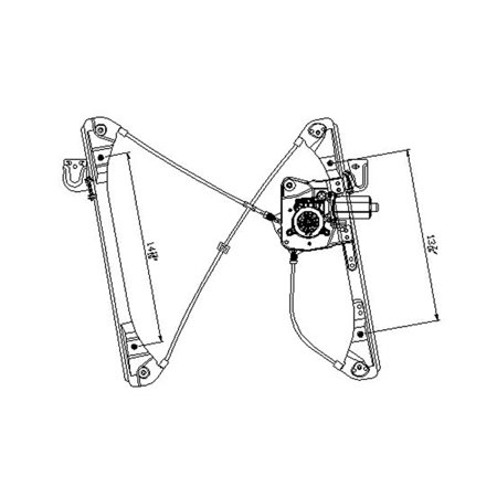 Replacement Front Left Window Regulator For 99-04 Alero 99