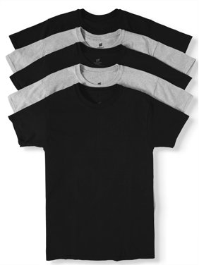 61c761a3 Free shipping. Product Image Men's ComfortSoft Tagless Black and Grey Crew T -Shirts, ...