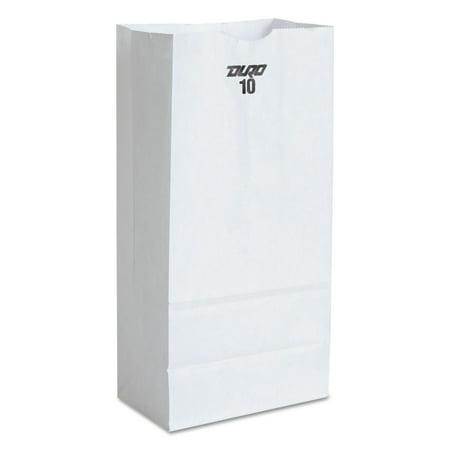 - Paper Bags & Sacks 51030 #10 Paper Grocery Bag, 35lb White, Standard 6 5/16 X 4 3/16 X 13 3/8, 500 Bags