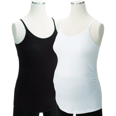 20f1bf58e8710 ONLINE - Maternity Longer-Length Shelf-Bra Camisoles, 2-Pack - Walmart.com