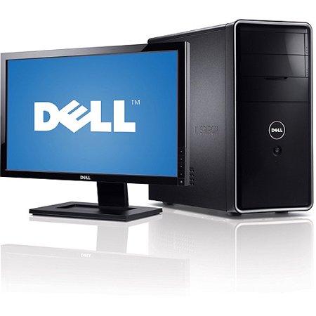 Dell Piano Black Inspiron 570 Desktop PC with AMD Athlon II X2 250  Processor, 4GB Memory  20