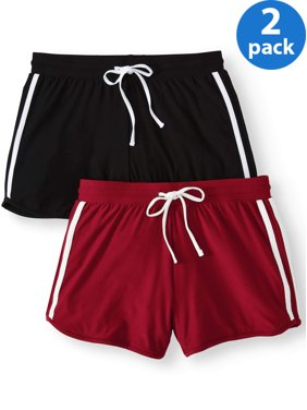ea3b56fc0b Product Image Juniors' Basic Knit Shorts with Tie-Front 2-Pack Value Bundle