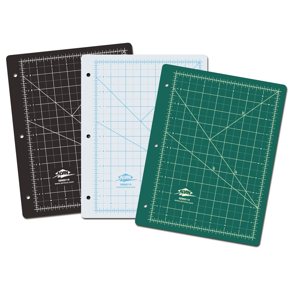 Alvin Green/Black Professional Self-Healing Cutting Mat For 3-Ring Binders