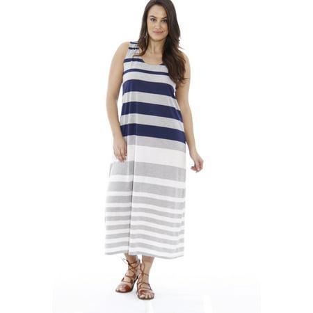 f399f8a00af0 Just Love - Plus Size Summer Dresses / Maxi Dress (Navy / Heather / Ivory,  1X, Sundress) - Walmart.com