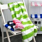 Cheers 80x160cm Microfiber Quick-dry Striped Soft Absorbent Gym Pool Beach Bath Towel