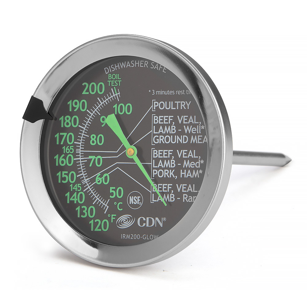 CDN ProAccurate Meat /& Poultry Glowing Ovenproof Thermometer