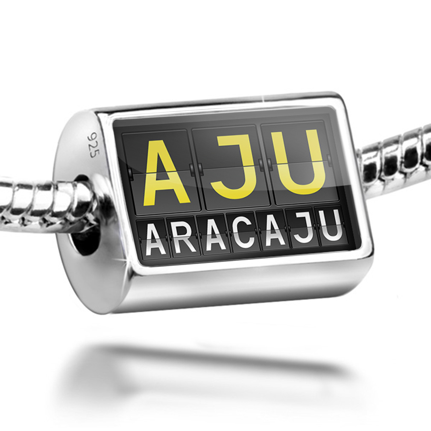Bead AJU Airport Code for Aracaju Charm Fits All European Bracelets