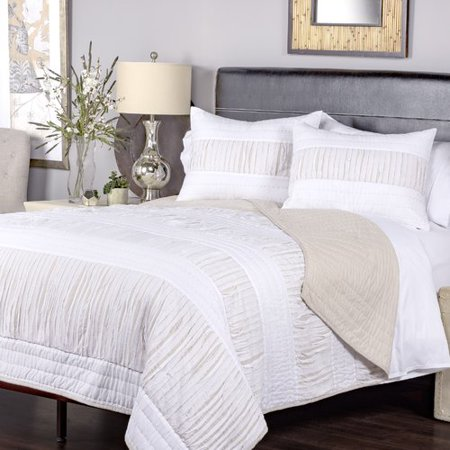 Gracie Oaks Piche Cotton 3 Piece Quilt Set - Walmart.com