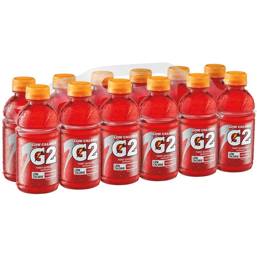 Gatorade G2 Low Calorie Electrolyte Fruit Punch Sports Drink, 12 Ct/144 Fl Oz