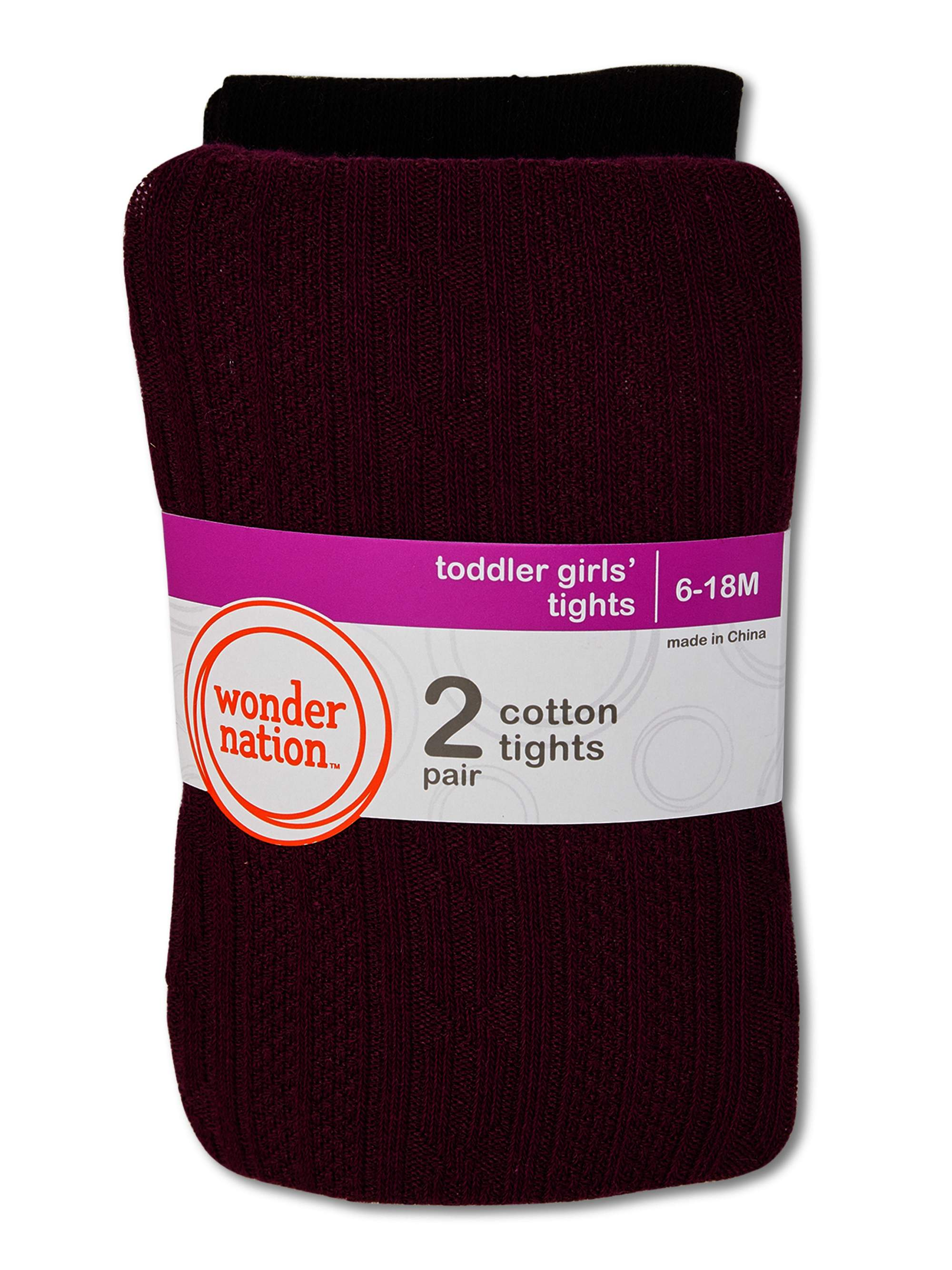 Girls Cotton Knit Tights Pack of 2