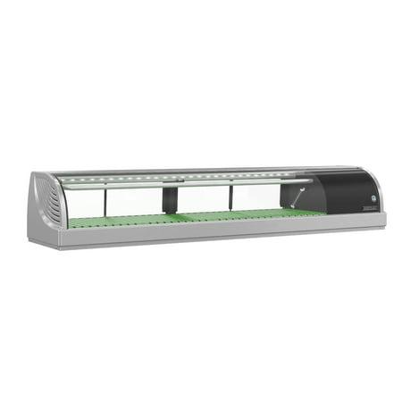 Hoshizaki Sushi Display Case (Hoshizaki HNC-150BA-R-SL, Refrigerator, Right Side Condenser Display Case, Half Glass Doors )
