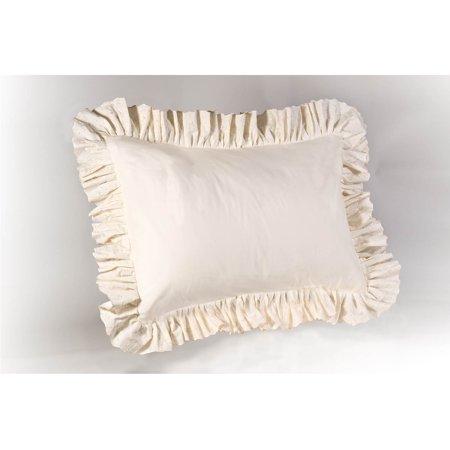 Eyelet Ruffled Pillow Sham ()