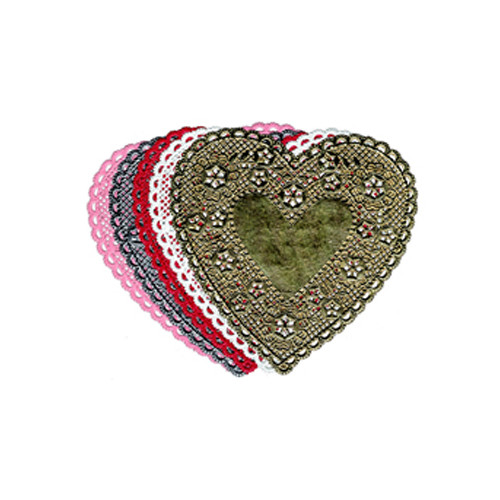 Hygloss Products Inc Doilies 4 White Hearts 100/pk (Set of 2)