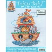 """Tobin Noah's Ark Quilt Stamped Cross Stitch Kit, 34"""" x 43"""""""