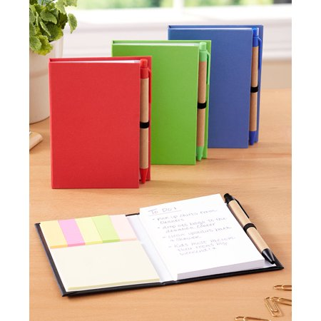 Set of 4 Notepads with Pens -