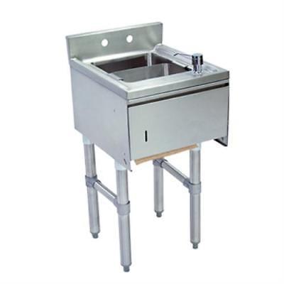 BK Resources BKUBS-1012HST218SPGS Slimline Underbar Dump Sink